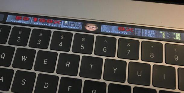 Touch Bar в игре DOOM