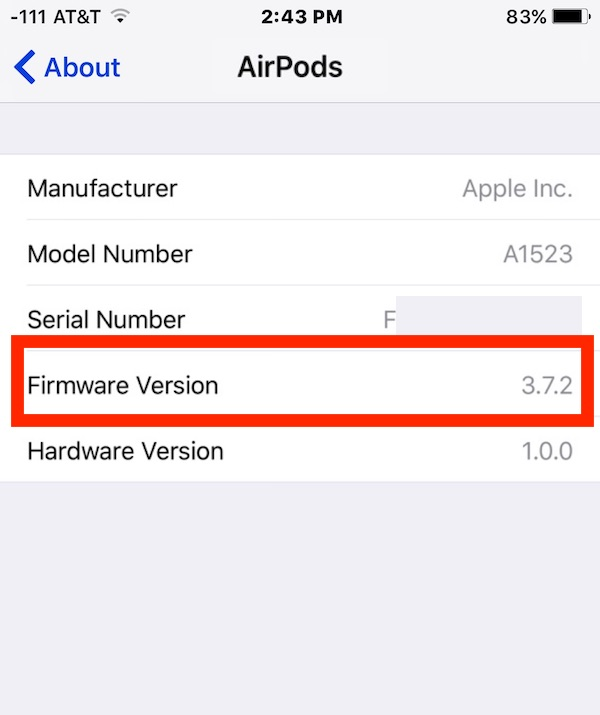 How to check AirPods firmware version