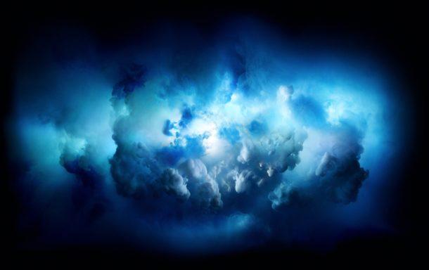 iMac Pro обои разноцветных облаков