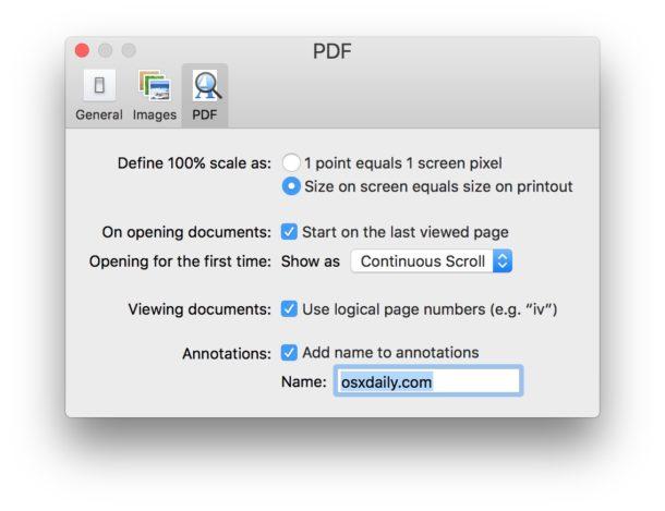 Изменение имени аннотации в Preview для Mac