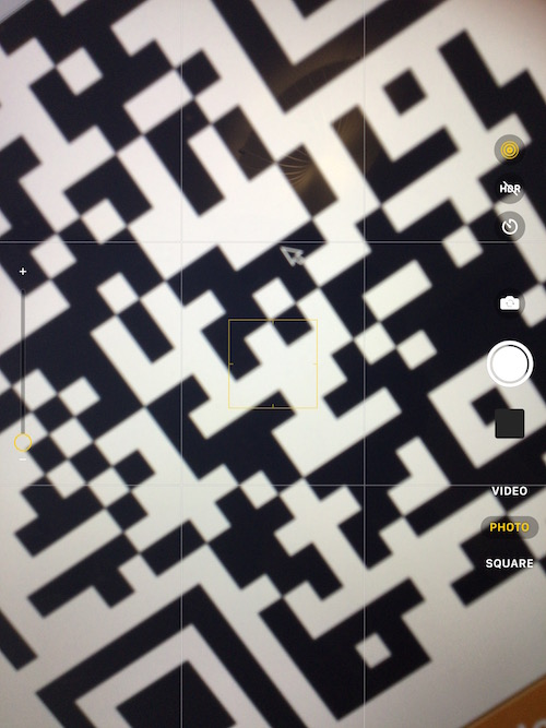 Read a QR code with iPhone or iPad camera