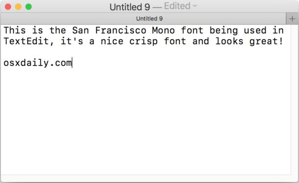 Шрифт SF Mono в Mac OS