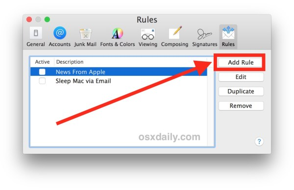 How to create an autoresponder for email in Mail for Mac