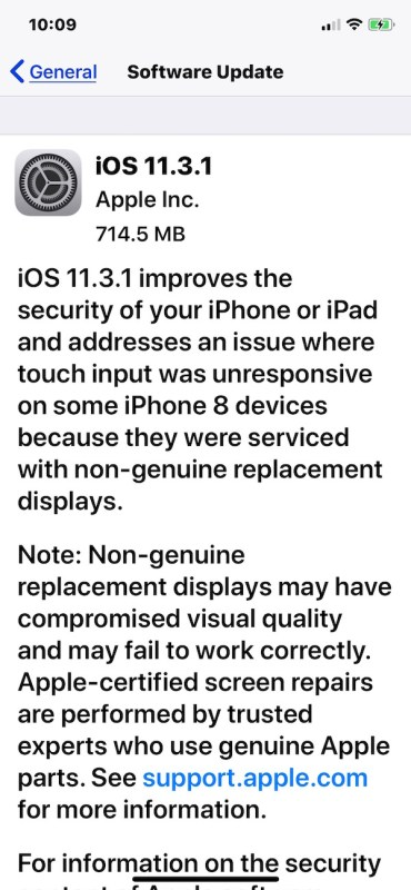 iOS 11.3.1 download update