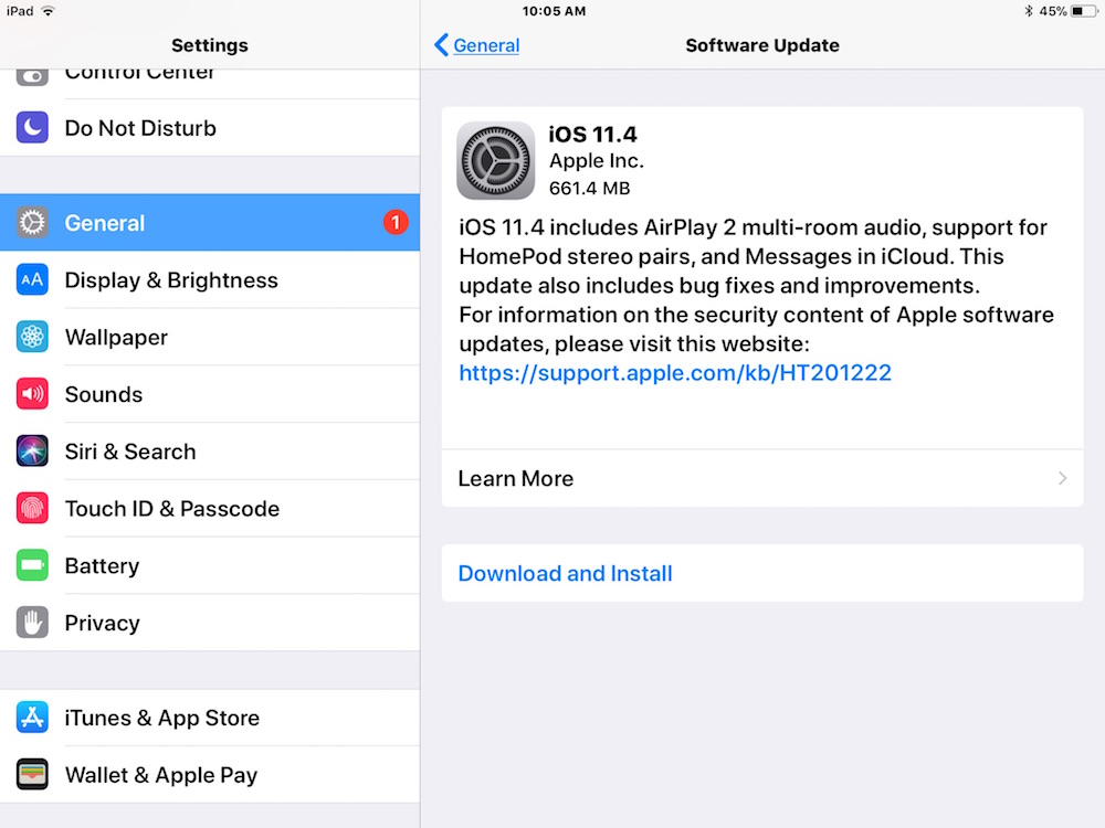 Ios 11 4 Update Released Download Now For Iphone And Ipad Osxdaily