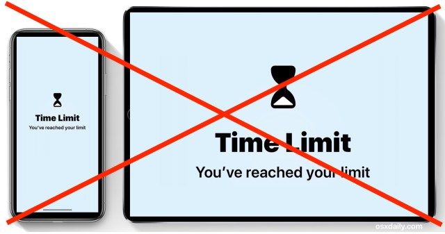How to Remove Screen Time Limit on iPhone or iPad  OSXDaily