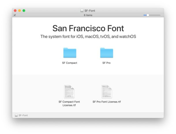 Шрифты San Francisco для Mac