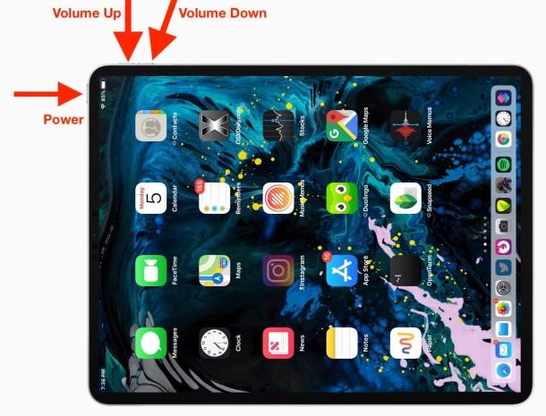 Как принудительно перезагрузить iPad Pro