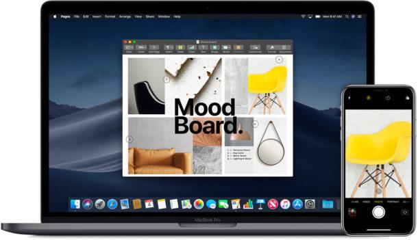 Используйте Continuity Camera на Mac, чтобы делать снимки на iPhone или iPad