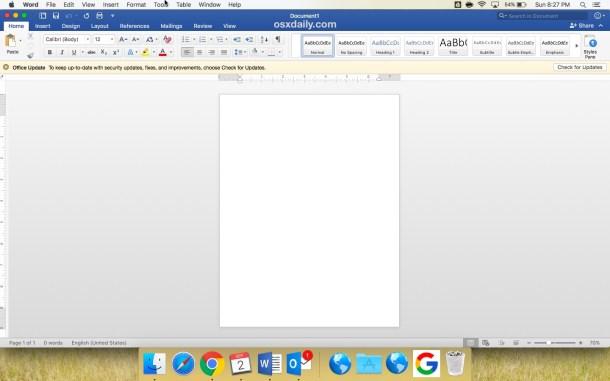 Как отключить автозамену в Microsoft Word для Mac