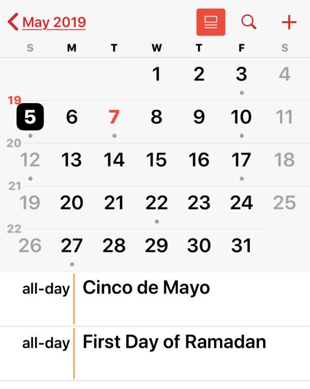 Как удалить праздничный календарь на iPhone или iPad