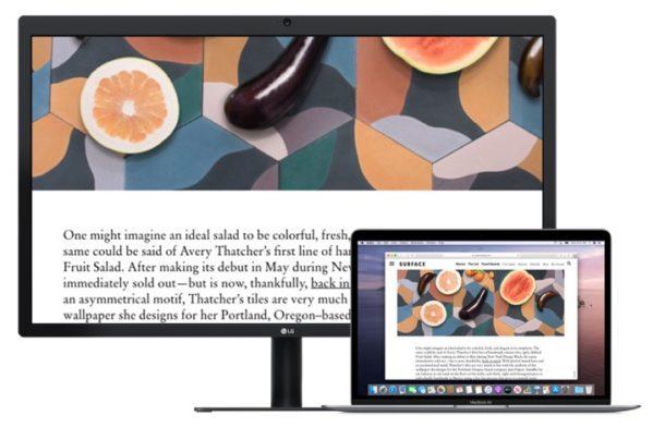 Увеличение второго дисплея на Mac