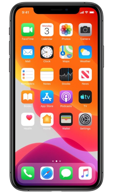 iOS 13 on iPhone