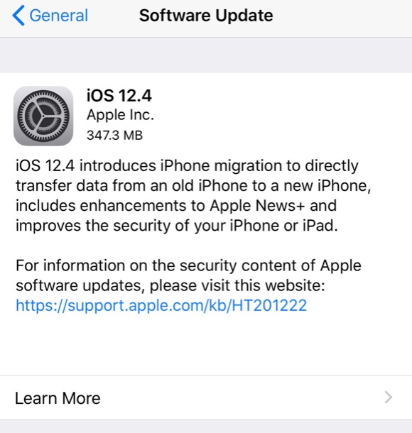 iOS 12 4 Update for iPhone & iPad Available to Download [IPSW Links]