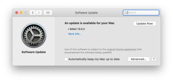 MacOS Catalina скрыта