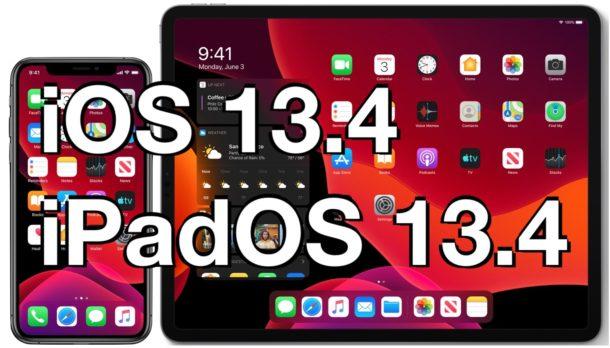 iOS 13.4 and iPadOS 13.4