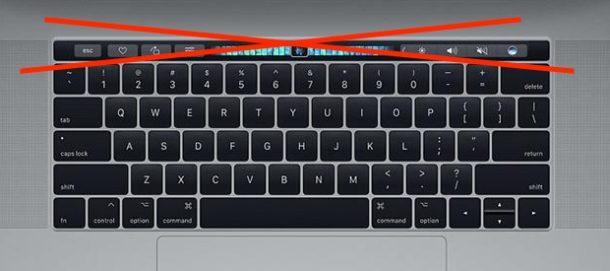 Игнорировать ввод Touch Bar
