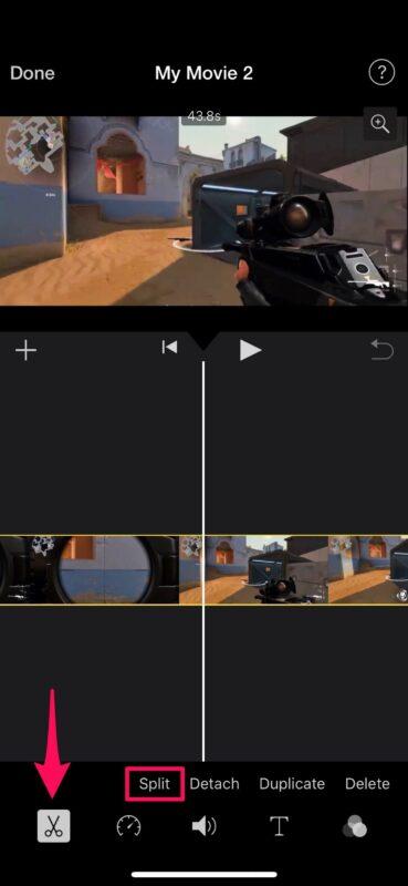 Cómo cortar y recortar vídeo en iPhone y iPad con iMovie