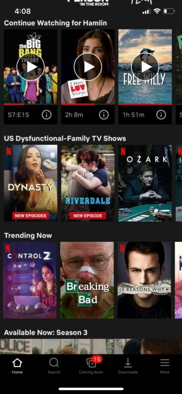 Как включить / отключить субтитры на Netflix на iPhone, iPad, Apple TV