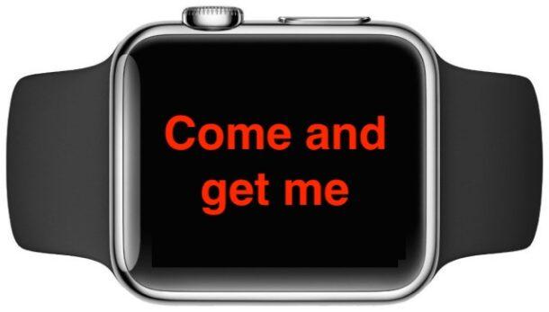 Apple Watch с текстовым сообщением