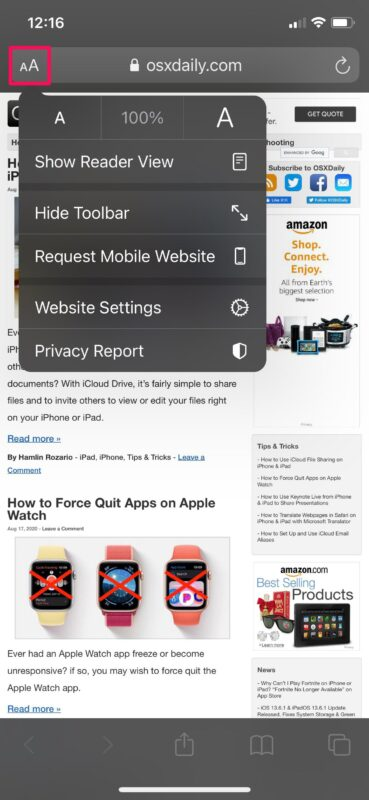 How to Force Safari to Load Desktop Sites on iPhone & iPad