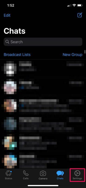 Как скрыть последнее посещение в WhatsApp