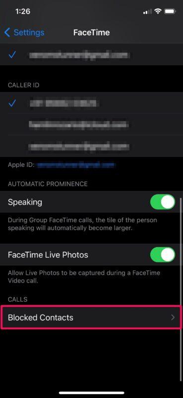 Как заблокировать абонентов Facetime на iPhone и iPad