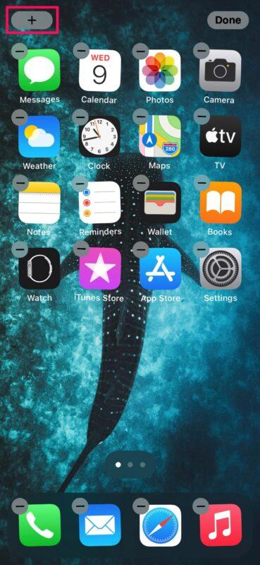 iPhoneのホーム画面にウィジェットを追加する方法