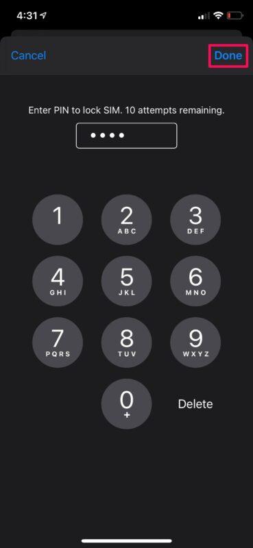 Как заблокировать SIM-карту с помощью PIN-кода на iPhone