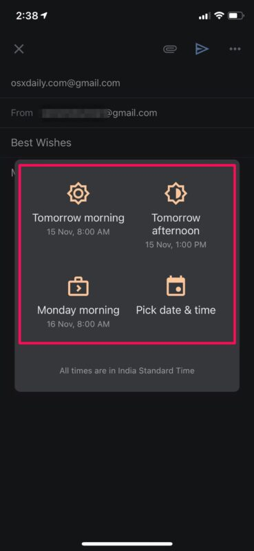 Как запланировать электронную почту на iPhone и iPad