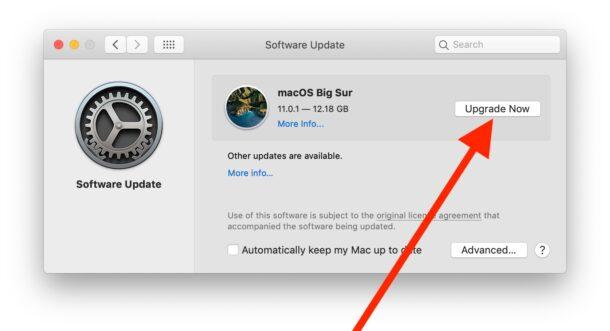 Как загрузить и обновить macOS Big Sur
