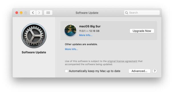 MacOS Big Sur доступна для загрузки