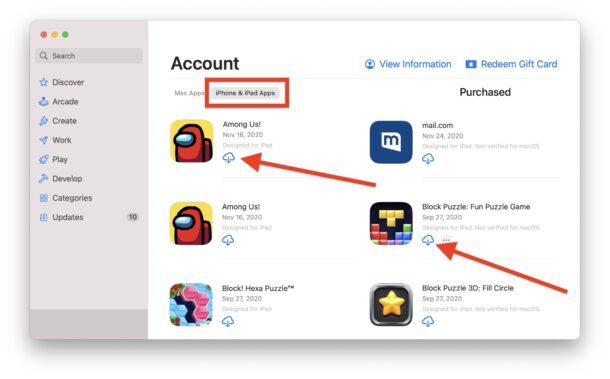 Как скачать приложения для iPhone и iPad на Mac