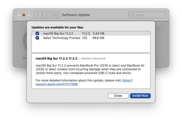 macOS Big Sur 11.2.2 Обновить