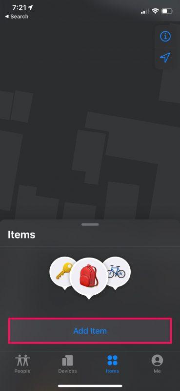 Как вручную добавить AirTag для поиска меня на iPhone