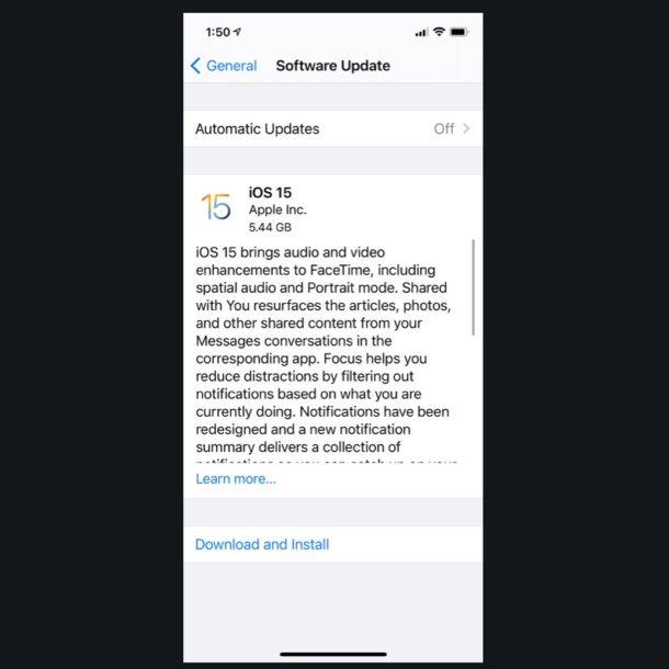iOS 15 GM скачать
