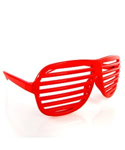 red shutter sunglasses