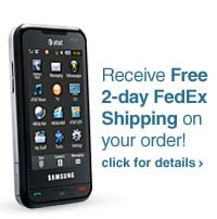 Shop Cell Phones with Plans and get FREE 2-day Fedex Shipping - click for details