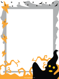 free halloween borders for invitations