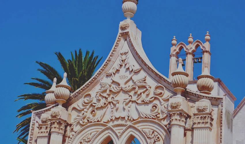Detalle de la entrada al atrio del templo de Jesús Nazareno (Foto: Carlos Alberto Sánchez Villegas)