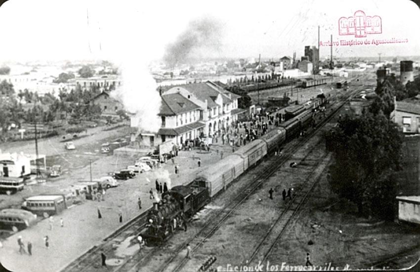 Estación del Ferrocarril de Aguascalientes (Foto: Archivo Histórico del Estado de Aguascalientes)
