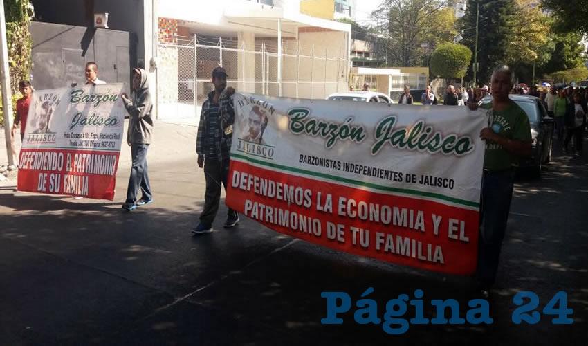 El Barzón protesta para evitar que 200 familias pierdan sus casas/Fotos: Francisco Tapia