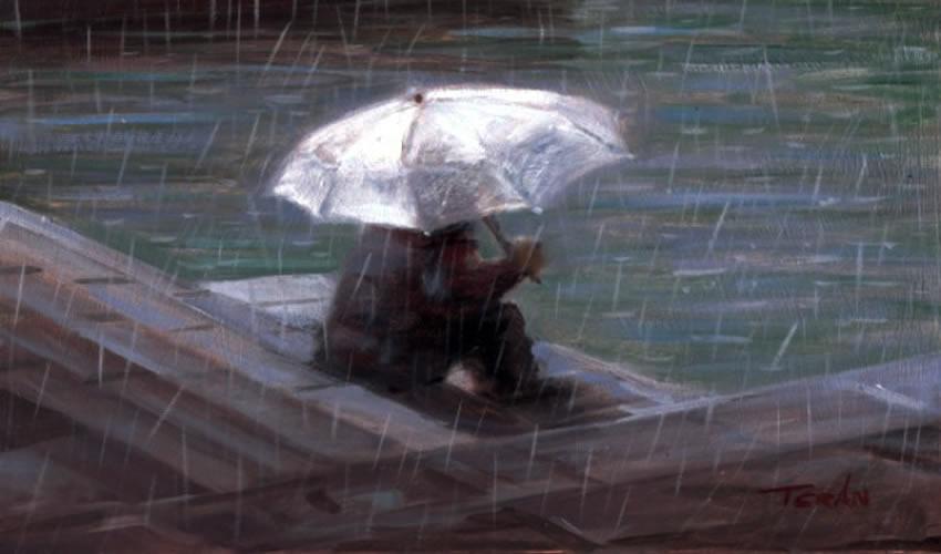 A propósito de la lluvia, Manuel Terán