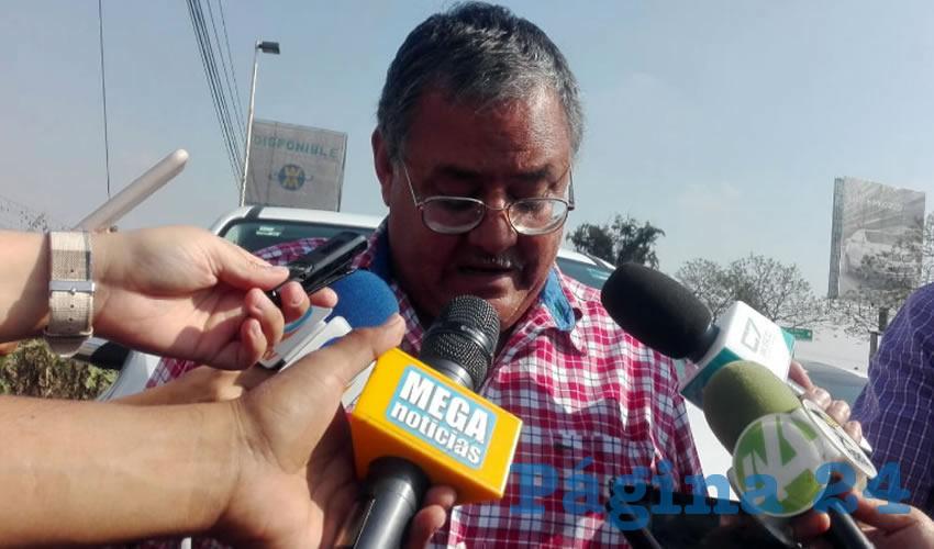 """""""Nos dejaron plantados, dijeron a la una, que a las dos, que a las tres. No tienen interés en resolver el problema, pero el ejido no se va a detener, nosotros a partir de hoy (ayer) vamos a hacer plantones y a partir de mañana (hoy), vamos a hacer otras acciones"""", advirtió Nicolás Vega Pedroza, presidente del comisariado ejidal del Zapote/Foto: Francisco Andalón López"""
