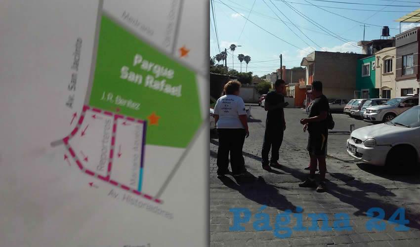 Para justificar su acción los empleados municipales entregaron a vecinos papeletas del ayuntamiento donde se les indica que las obras serían en dos etapas sobre las vialidades aledañas al parque, lo que pisotea lo ordenado por el TAE