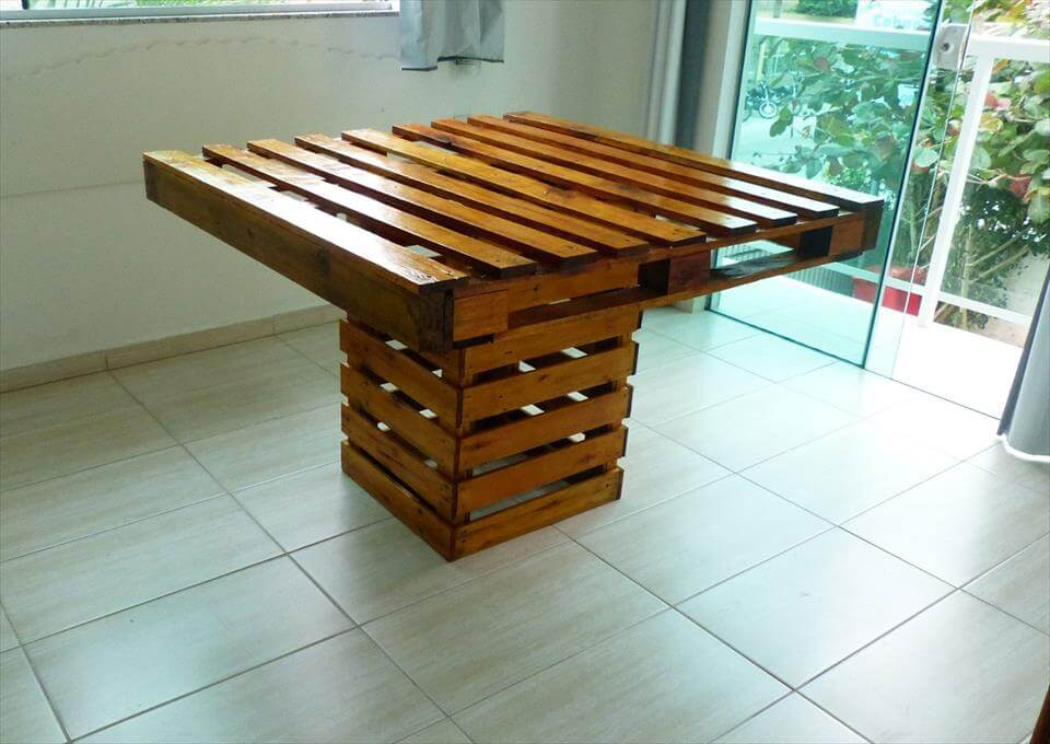 Square Top Pallet Dining Table Pallets Pro