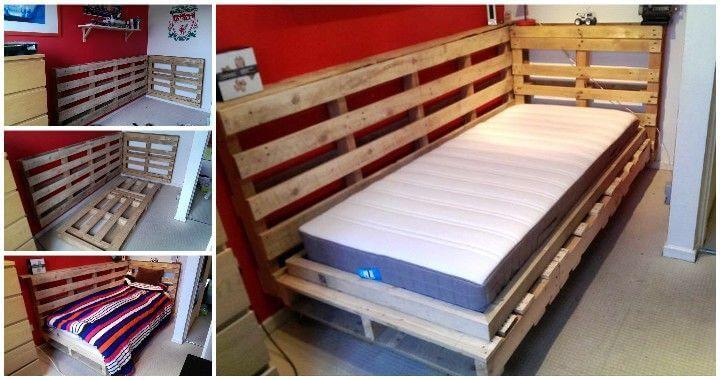 DIY Pallet Bed Design for Corner - Pallets Pro on Bed Pallet Design  id=81351