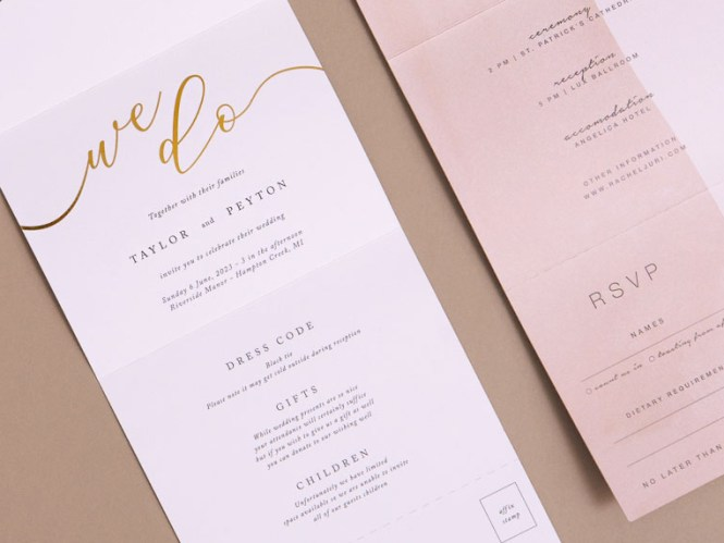 Send And Seal Wedding Invitations Paper