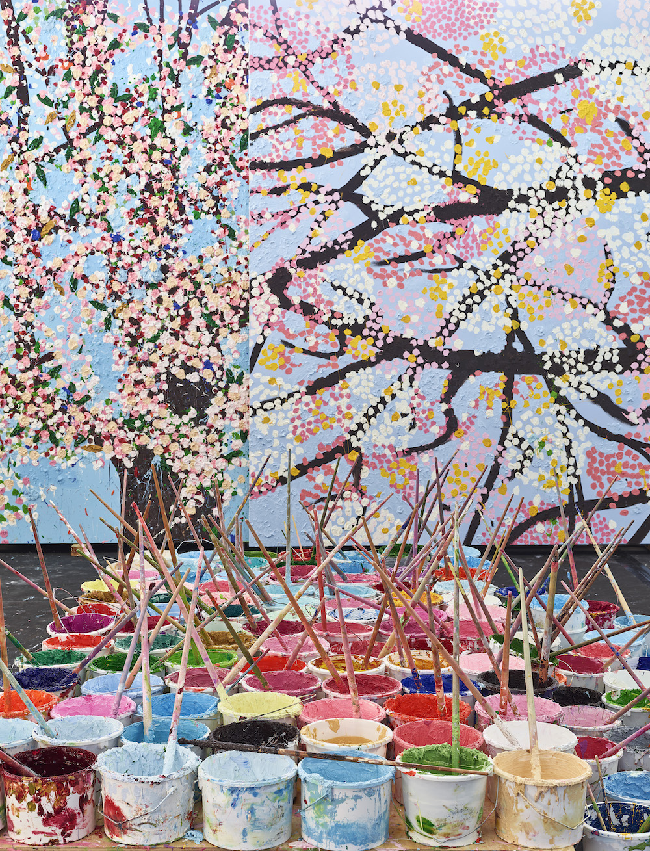Damien Hirst, Cerisiers en fleurs