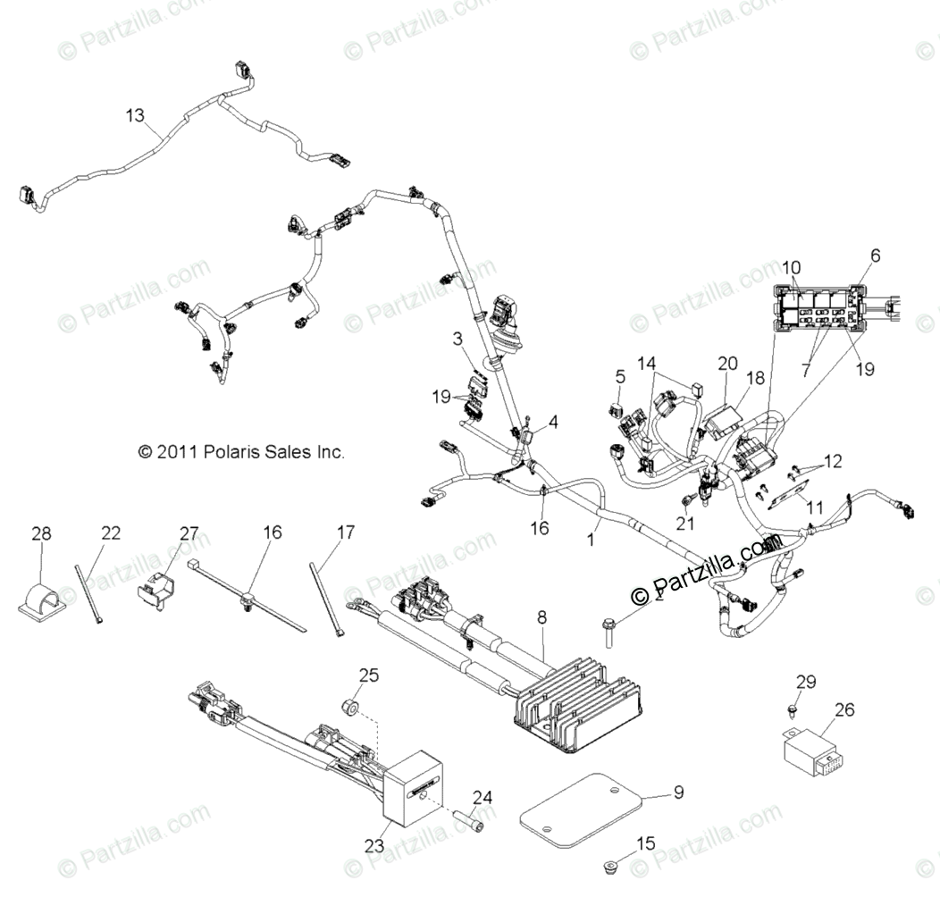Polaris Side By Side Oem Parts Diagram For Electrical